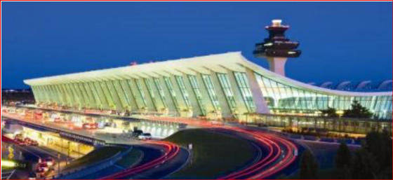 Dulles Main Termina viewed from Northwest Washington Airports Authority