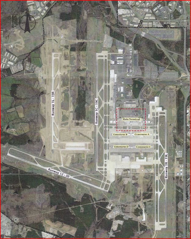 Metropolitan Washington Airports Authority Aerial View of Dulles Airport
